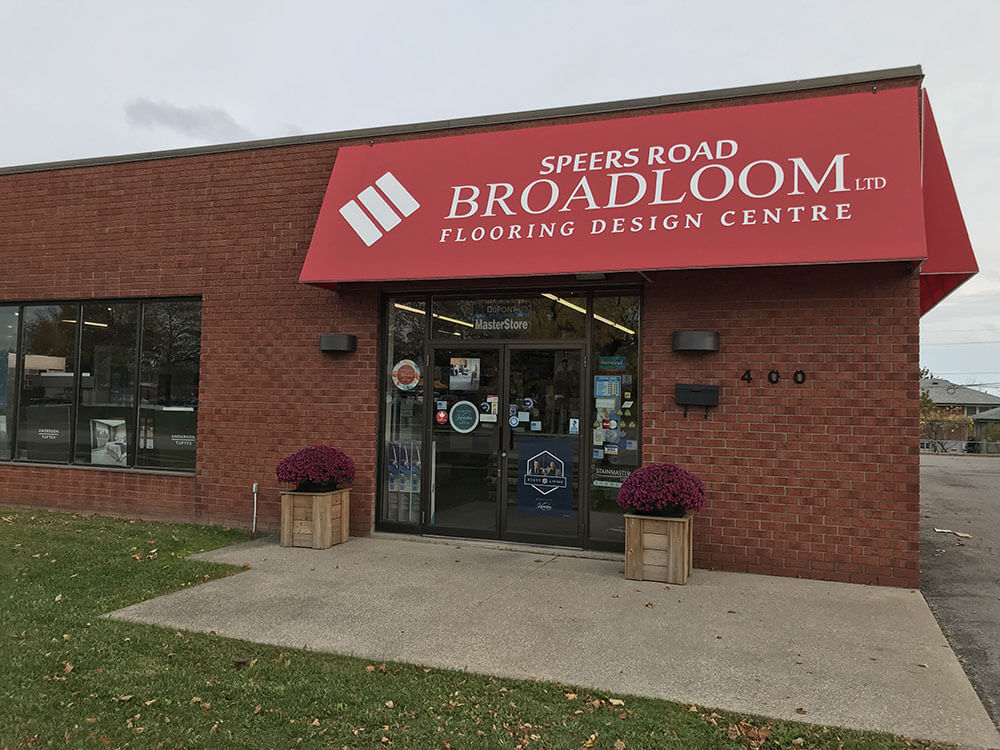 Speers store front view | Speers Road Broadloom