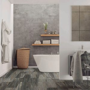 Vinyl flooring of bathroom | Speers Road Broadloom
