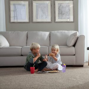 Kids eating on Carpet | Speers Road Broadloom